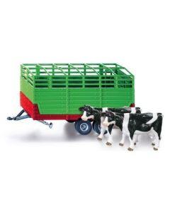 Zestaw przyczepa do przewozu zwierząt (2 krowy)