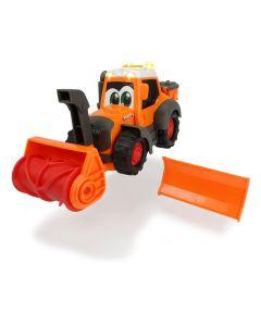 Happy Fendt - traktor z odśnieżarką i pługiem