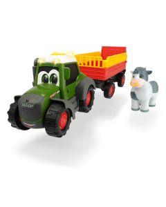 Happy Fendt - traktor z przyczepą do przewozu zwierząt Dickie Toys