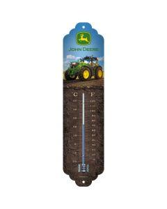 Termometr John Deere. Z dwiema skalami (stopnie Celsjusza i Fahrenheita).