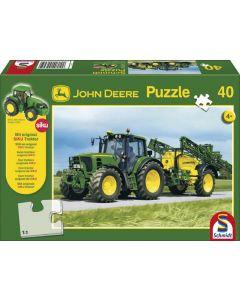 Puzzle John Deere 6630 z opryskiwaczem + ciągnik Siku