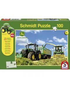Puzzle John Deere 7310R i John Deere 8600i + Ciągnik Siku