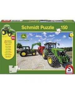 Puzzle John Deere 5M + Ciągnik Siku