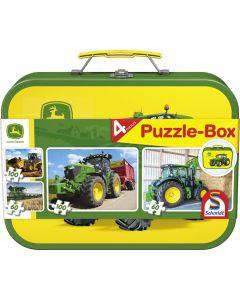 Puzzle John Deere. Zestaw 2x60 i 2x100 elementów.