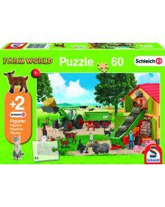 Puzzle zbieranie siana na farmie Schmidt