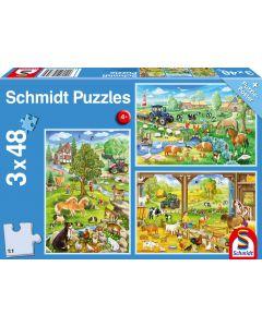Puzzle Rolnicze Farma Schmidt zestaw