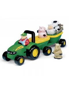 John Deere wóz ze zwierzętami