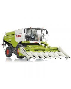 Claas Lexion 760 z przystawką do kukurydzy