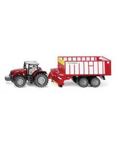 Ciągnik Massey Ferguson 8690  z Pöttinger Jumbo 6010