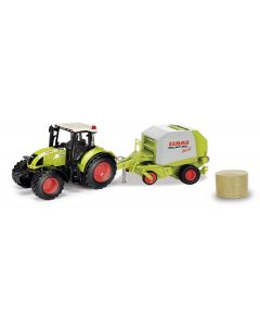 Claas Arion 540 z prasą Rollant 250