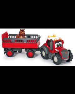 Happy Massey Ferguson - traktor z przyczepą do przewozu zwierząt Dickie Toys