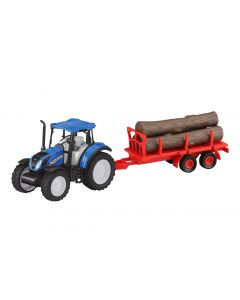 New Holland T5.120 z przyczepą do drewna Jamara 1:32 460530