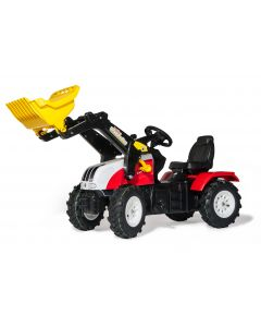 Traktor na pedały Steyr 6240 CVT z ładowaczem i ogumieniem rollyFarmtrac R04633 Rolly Toys