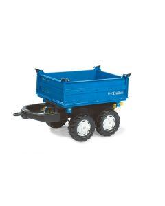 Przyczepa Mega dwuosiowa niebieska Rolly Toys R12110