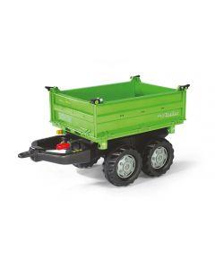 Przyczepa Mega dwuosiowa zielona Rolly Toys R12150