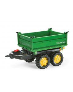 Przyczepa Mega dwuosiowa zielona, Rolly Toys 122004