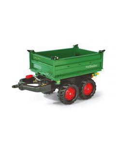 Przyczepa Mega dwuosiowa ciemnozielona Rolly Toys R12220