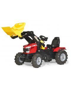 Traktor na pedały Massey Ferguson z ładowaczem i ogumieniem rollyFarmtrac R61114.