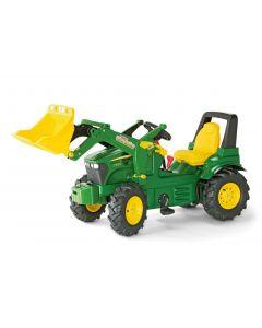 Traktor na pedały John Deere 7930 z ładowaczem, 2 biegami, hamulcem i ogumieniem rollyFarmtrac R71012 Rolly Toys