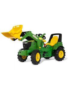 Traktor na pedały John Deere 7310R z ładowaczem, 2 biegami, hamulcem i ogumieniem rollyFarmtrac R71031 Rolly Toys