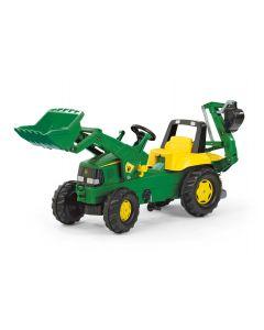 Traktor na pedały John Deere z ładowaczem i koparką rollyJunior R81107 Rolly Toys