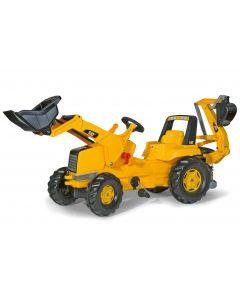 Traktor na pedały CAT z ładowaczem i koparką rollyJunior R81107 Rolly Toys