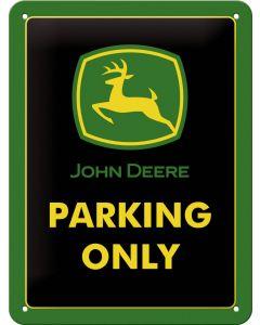"""Metalowy znak John Deere """"Parking Only"""""""