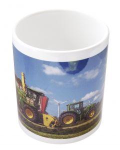 Kubek John Deere sieczkarnia i traktor