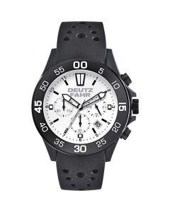 Czarny męski zegarek Deutz-Fahr