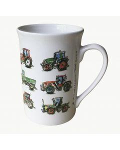 Kubek z 12 rysunkami traktorów