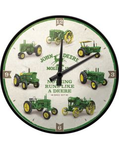 Zegar ścienny z traktorami John Deere