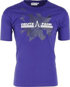 T-shirt Deutz-Fahr niebieski męski rozmiar S
