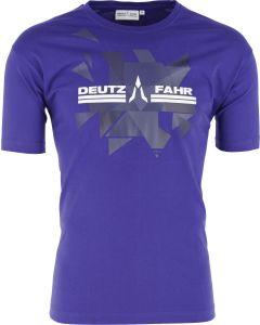 T-shirt Deutz-Fahr niebieski męski rozmiar L