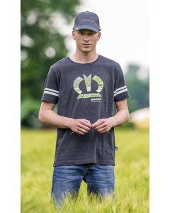 T-Shirt Krone szary męski rozmiar 2XL