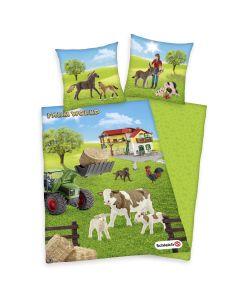 Pościel Farm World 00% bawełna naturalna flanela Biber. Wymiary 80/80 cm + 135/200 cm
