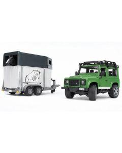Land Rover z przyczepką dla koni Bruder 1:16 02592