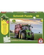 John Deere 8370R Puzzle + Ciągnik Siku 60 elementów
