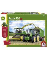 Puzzle John Deere 6195M i Sieczkarnia 8500i + ciągnik Siku